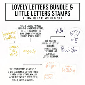 Concord & 9th - LOVELY LETTERS Uppercase - Stamps Set