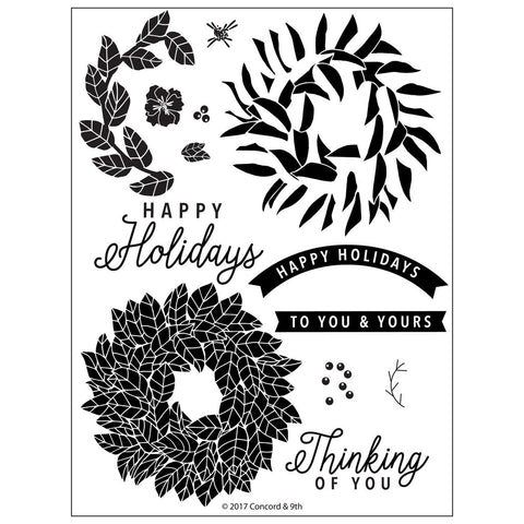 Concord & 9th - MAGNOLIA WREATH Stamps set