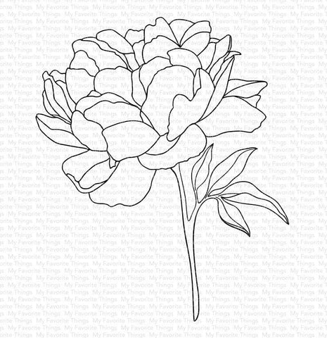 My Favorite Things - PEONY PERFECTION - Rubber Stamp