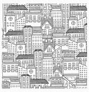 My Favorite Things - CITY BLOCK Background - Rubber Stamp
