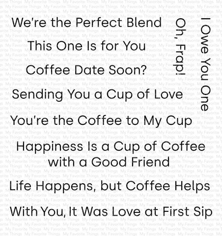 My Favorite Things - CUP OF LOVE - Clear Stamp Set