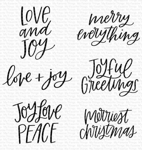 My Favorite Things - MINI MERRY MESSAGES - Clear Stamp Set