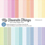My Favorite Things - PETITE GINGHAM Paper Pack 6x6 - 24 sheets