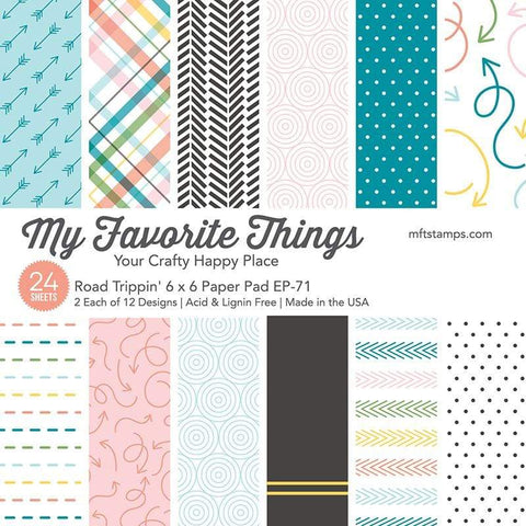 My Favorite Things - ROAD TRIPPIN' Paper Pack 6x6 - 24 sheets