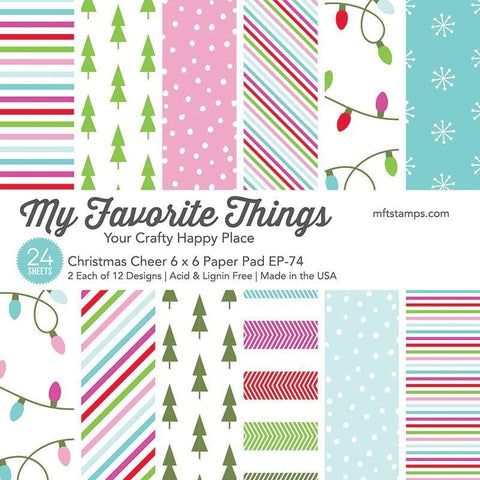 My Favorite Things - CHRISTMAS CHEER Paper Pack 6x6 - 24 sheets