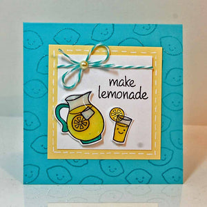 Lawn Fawn - MAKE LEMONADE - Clear STAMPS 5pc - Hallmark Scrapbook - 4