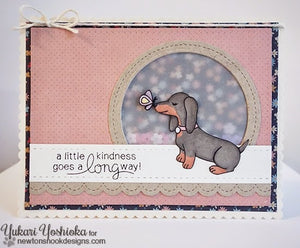 Newton's Nook Designs - DELIGHTFUL DOXIES Clear Stamps - Hallmark Scrapbook - 5