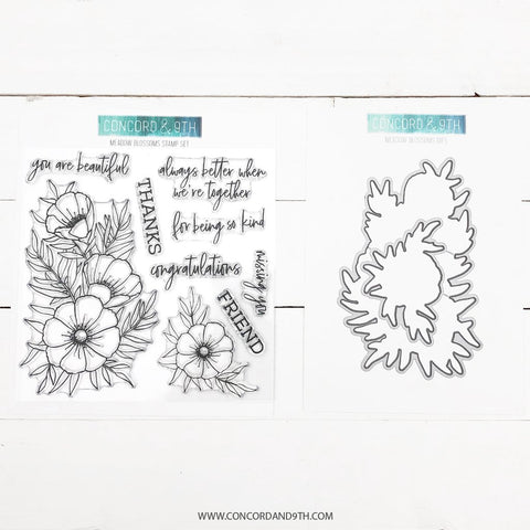 Concord & 9th - MEADOW BLOSSOMS - Stamps and Dies BUNDLE Set