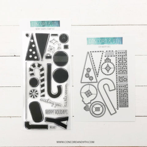 Concord & 9th - MERRY SHAPES and SEW MERRY Stamps & Dies BUNDLE - 30% OFF!