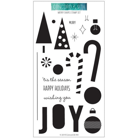 Concord & 9th - MERRY SHAPES Stamps set - 20% OFF!