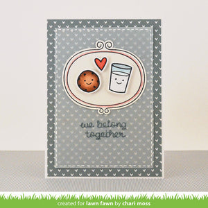 Lawn Fawn - Milk and Cookies - CLEAR STAMPS 16 pc - Hallmark Scrapbook - 4