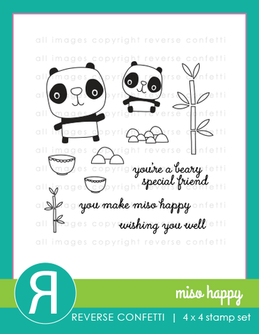 Reverse Confetti - MISO HAPPY - Stamp Set