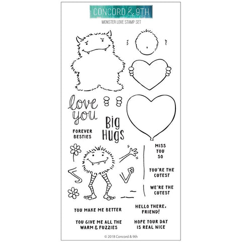 Concord & 9th - MONSTER LOVE Clear Stamps set