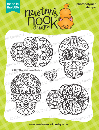 Newton's Nook Designs - BEAUTIFUL BONES Clear Stamps