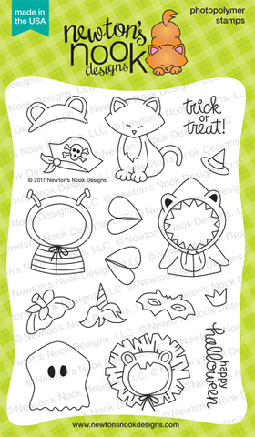 Newton's Nook Designs - NEWTONS COSTUME PARTY Clear Stamps Set