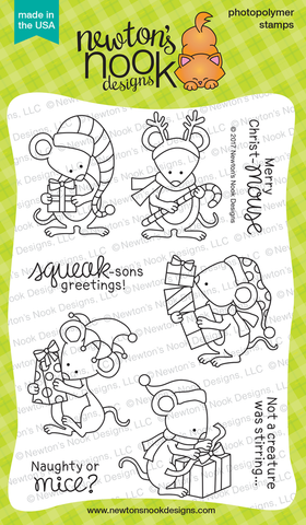 Newton's Nook Designs - NAUGHTY OR MICE Clear Stamps Set