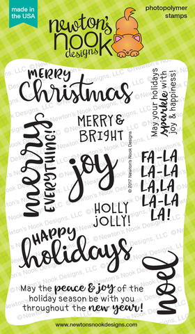 Newton's Nook Designs - SENTIMENTS OF THE SEASON Clear Stamps