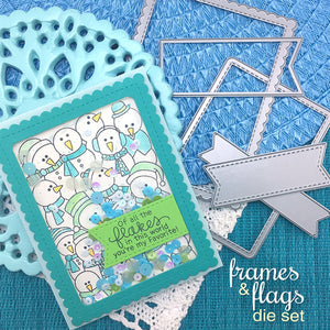Newton's Nook Designs - FRAMES And FLAGS Dies Set