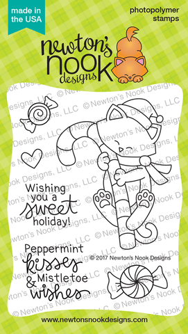 Newton's Nook Designs - NEWTONS CANDY CANE Clear Stamps