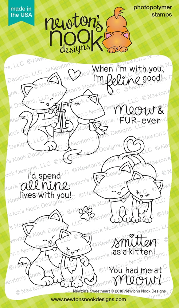 Newton's Nook Designs - NEWTON'S SWEETHEART Clear Stamps Set