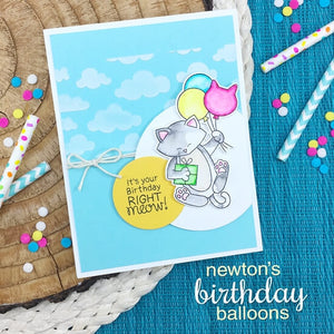 Newton's Nook Designs - NEWTONS BIRTHDAY BALLOONS Clear Stamps Set