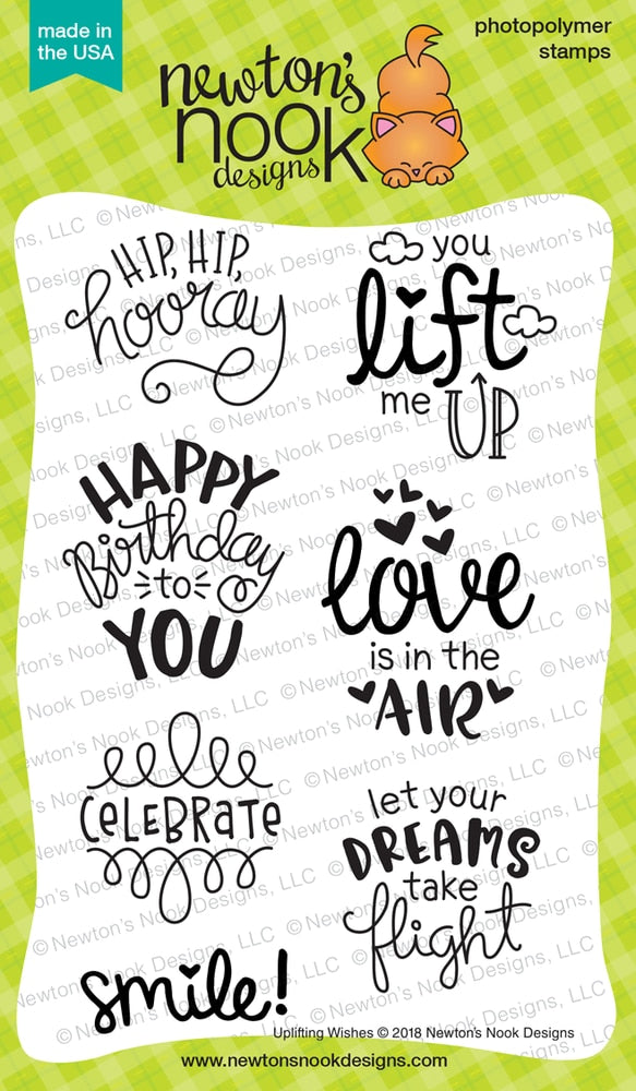 Newton's Nook Designs - UPLIFTING WISHES Clear Stamps Set