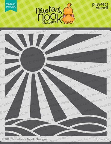 Newton's Nook Designs - SUNSCAPE - Stencil