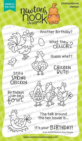 Newton's Nook Designs - CLUCK - Clear Stamp Set