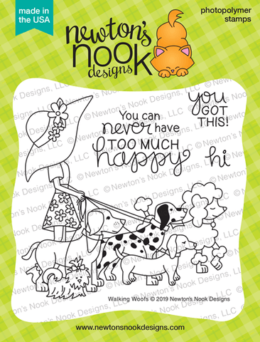 Newton's Nook Designs - WALKING WOOFS - Clear Stamp Set