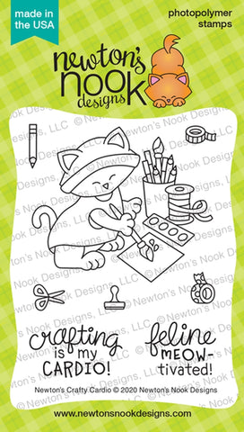 Newton's Nook Designs - NEWTONS CRAFTY CARDIO Stamps Set