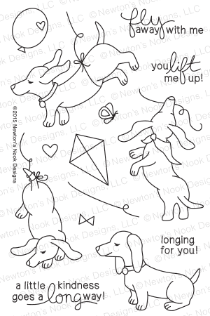 Newton's Nook Designs - DELIGHTFUL DOXIES Clear Stamps - Hallmark Scrapbook - 1