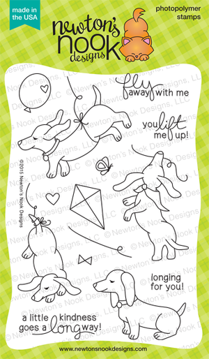 Newton's Nook Designs - DELIGHTFUL DOXIES Clear Stamps - Hallmark Scrapbook - 2
