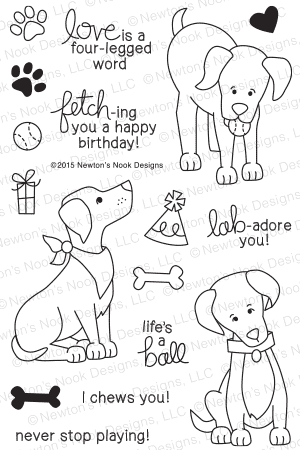 Newton's Nook Designs - FETCHING FRIENDSHIP Stamps Set - Hallmark Scrapbook - 1
