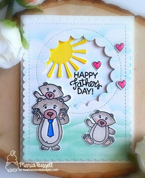 Newton's Nook Designs - PAPA BEAR Clear Stamps Set - 20% OFF!