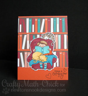 Newton's Nook Designs - A COZY DAY IN Clear Stamps - Hallmark Scrapbook - 6