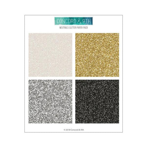 Concord & 9th - GLITTER 6x6 Paper Pack - NEUTRALS