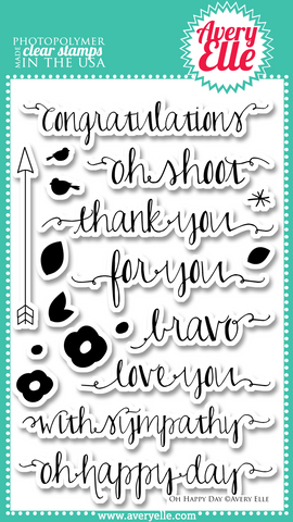 Avery Elle - OH HAPPY DAY - Clear Stamp set - 30% OFF!
