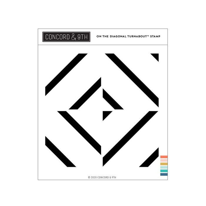 Concord & 9th - ON The DIAGONAL Turnabout - Stamp Set