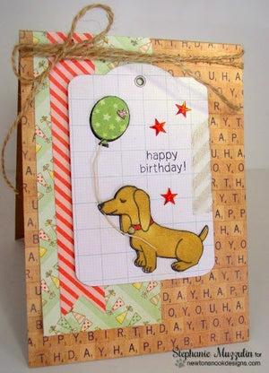 Newton's Nook Designs - DELIGHTFUL DOXIES Clear Stamps - Hallmark Scrapbook - 7