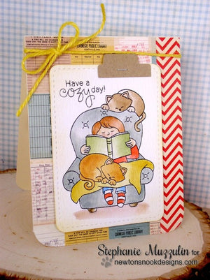 Newton's Nook Designs - A COZY DAY IN Clear Stamps - Hallmark Scrapbook - 7