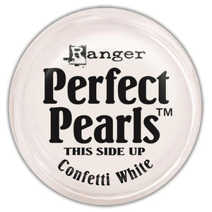 Perfect Pearls Pigment Powder - CONFETTI WHITE - Hallmark Scrapbook