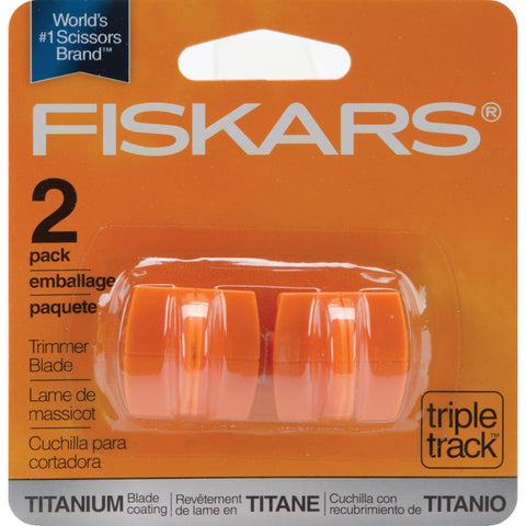 Fiskars TRIMMER BLADE Refill 2-pack Titanium Triple Track High-Profile - Hallmark Scrapbook - 1