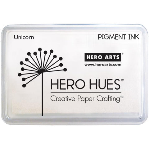 Hero Arts Pigment Ink - UNICORN (white) - Hallmark Scrapbook