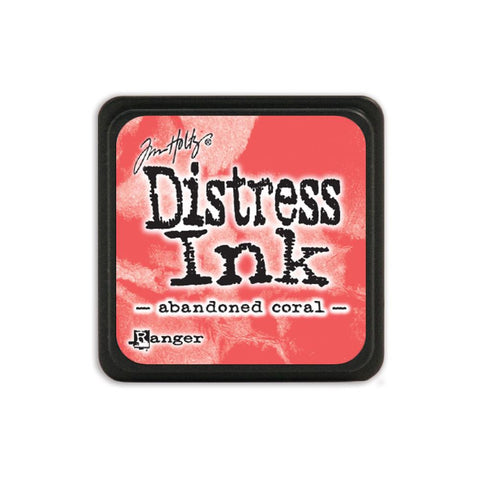 Tim Holtz Ranger Distress MINI Ink Pad - Abandoned Coral - Hallmark Scrapbook - 1