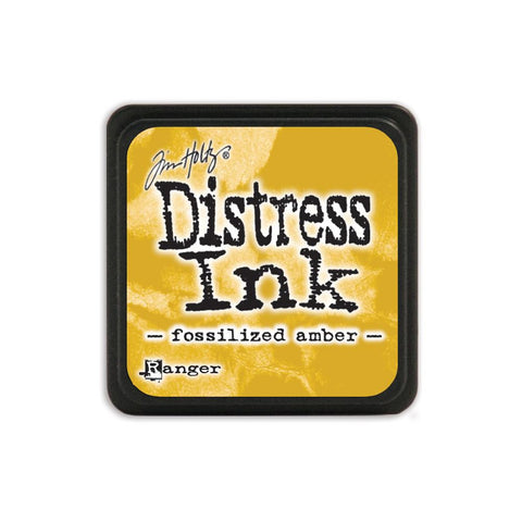 Tim Holtz Ranger Distress MINI Ink Pad - Fossilized Amber - Hallmark Scrapbook - 1