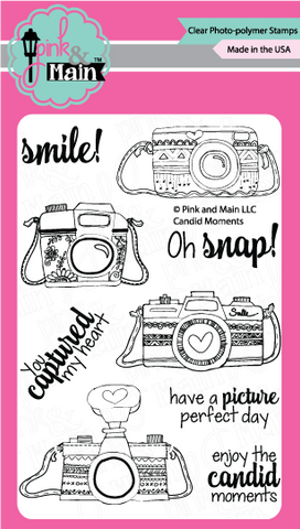 Pink & Main - CANDID MOMENTS - Clear Stamps - 40% OFF!