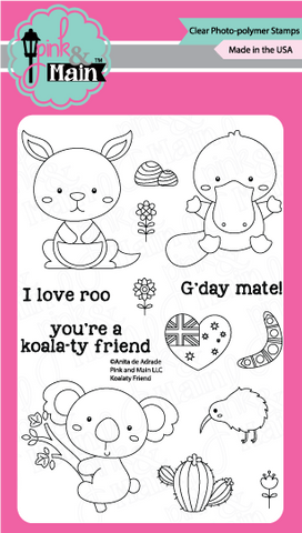 Pink & Main - KOALATY FRIEND - Clear Stamps
