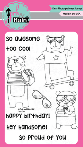Pink & Main - TOO COOL - Clear Stamps - 50% OFF!