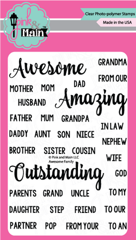 Pink & Main - AWESOME FAMILY - Clear Stamps