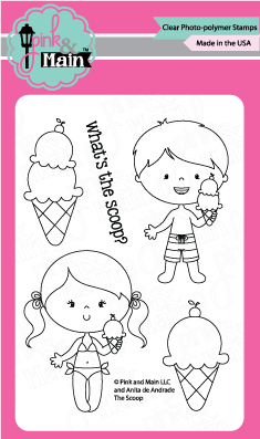 Pink & Main - THE SCOOP - Stamp set - 40% OFF!